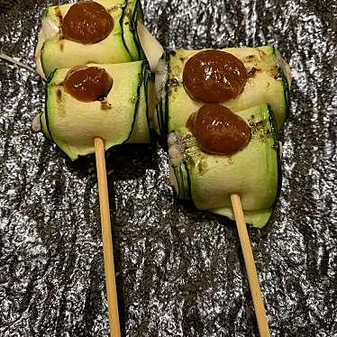 実際訪問したユーザーが直接撮影して投稿した池田町串焼き野菜肉巻き串 ぐるり 天五店の写真