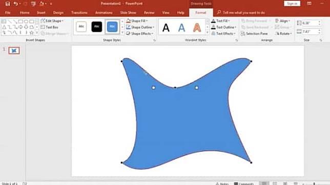 วิธีใช้ Edit Point บน PowerPoint ปรับรูปร่างของรูปและข้อความ