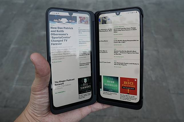 LG's new foldable dual-screen phone hands on: practical