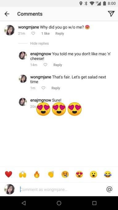 Instagram Comment Emoji Bar1