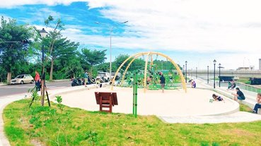 2020花蓮親子公園:七腳川公園,有健身環、攀爬網、大沙坑!花蓮新公園,東大門夜市附近景點。(花蓮親子景點/花蓮必去/花蓮溜滑梯/花蓮戶外景點/花蓮親子行程)