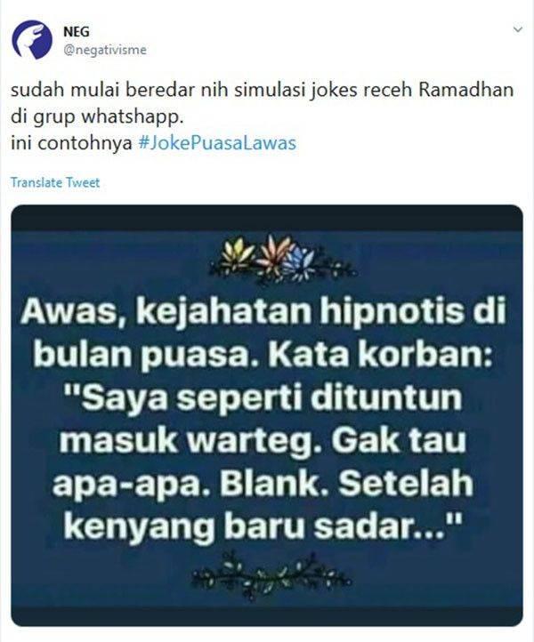 Tweet Lucu Ramadhan
