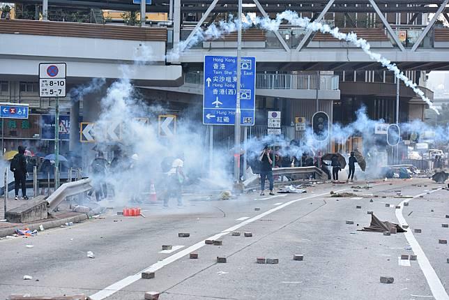 本港示威衝突持續。資料圖片