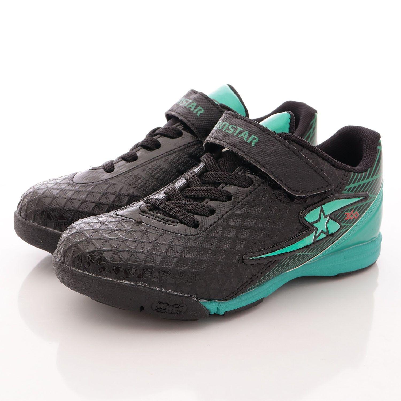 MoonStar日本月星 - 競速機能童鞋-足球運動系雙色款(中大童)-黑綠