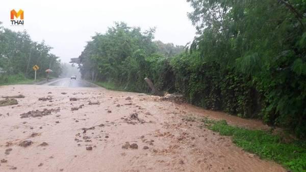 พายุโซนร้อนเบบินคา ทำฝนตกหนัก น้ำป่าไหลทะลักท่วมหลายพื้นที่ จ.พะเยา
