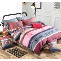 ◎PLAYBOY熱銷花款,布料綿密扎實、柔軟舒適,與身體接觸無刺激感|◎|◎‧主商品:PLAYBOY四件式寢具組(枕套x2/被套x1/床包x1)x1組‧尺寸:(加大)床包:180x186cm(+-5%