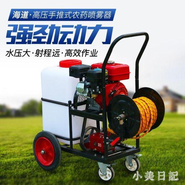 電動噴霧器農用高壓多功能果園打藥機充電四輪手推式汽油60升