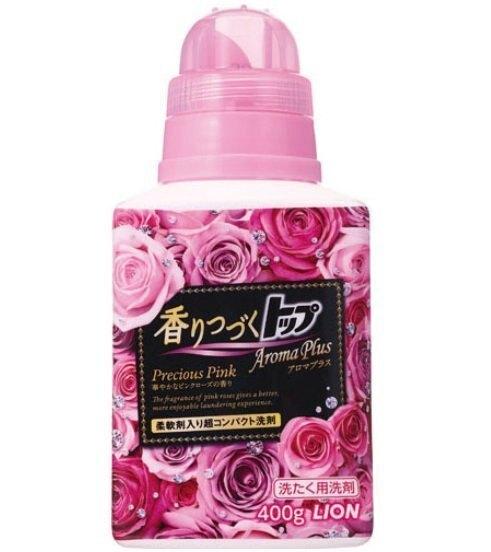 日本 LION獅王 優雅玫瑰濃縮衣物香氛柔軟洗衣精 400g✿