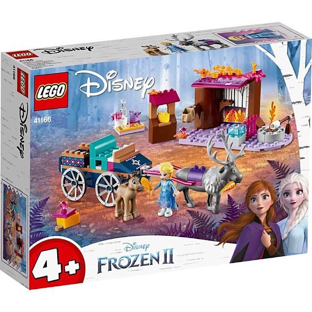 愛莎鹿車LEGO套裝,將愛莎、安娜的冒險故事變成積木,可在小屋探望馴鹿BB,又或在營火旁烤棉花糖。(互聯網)