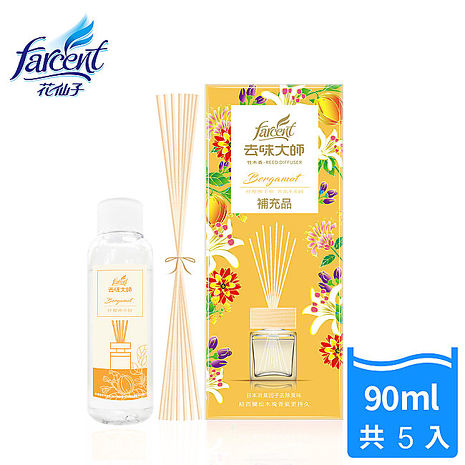 【花仙子】去味大師竹木香補充品90ml-3入-紓壓佛手柑