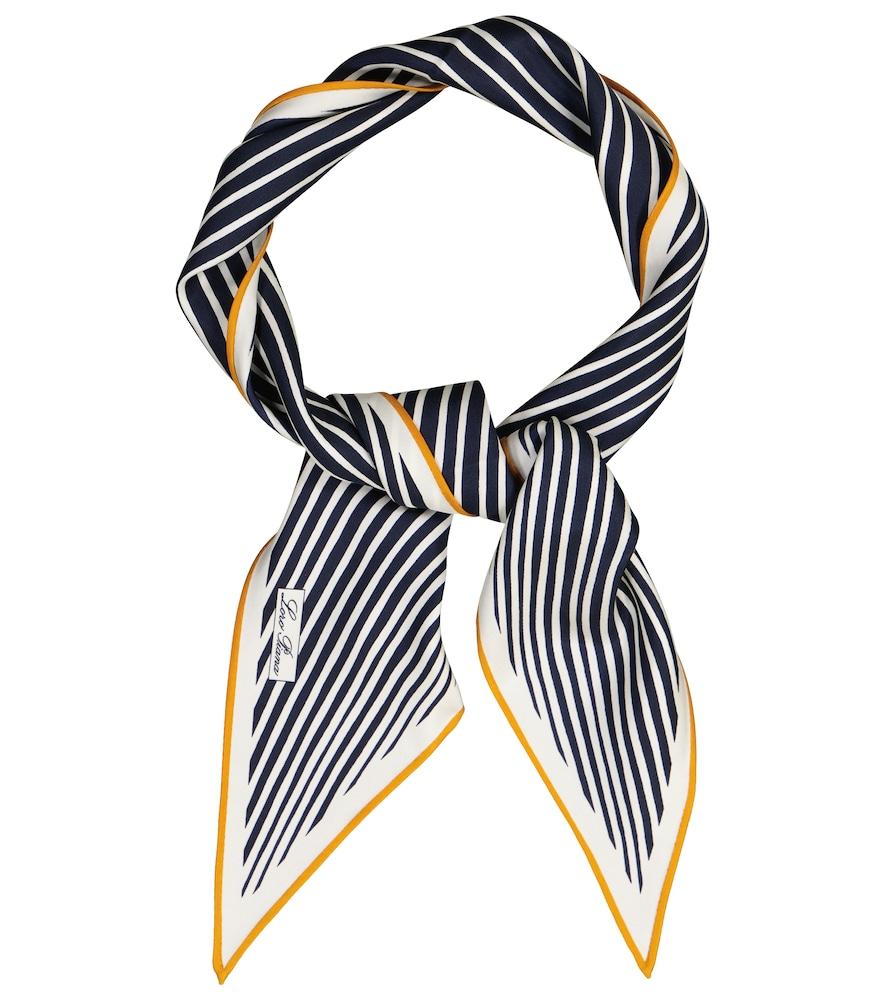 Lerins striped silk twill scarf