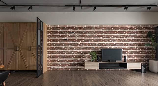 電視牆範例七:紅磚調