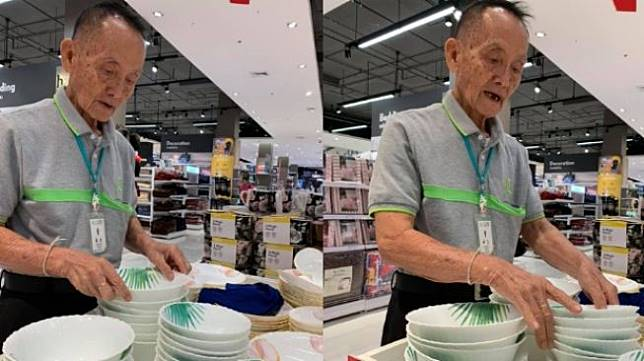Mantan CEO 81 tahun bekerja jadi sales di mal. (Facebook/Palakorn Tesnam)