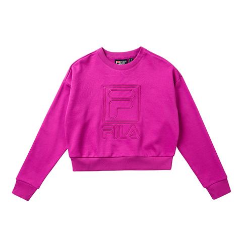FILA #米蘭ICONIC系列 女長袖T恤-藍紫 5TET-1815-VT