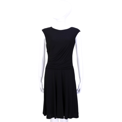 MAX MARA 黑色腰邊抓摺設計洋裝