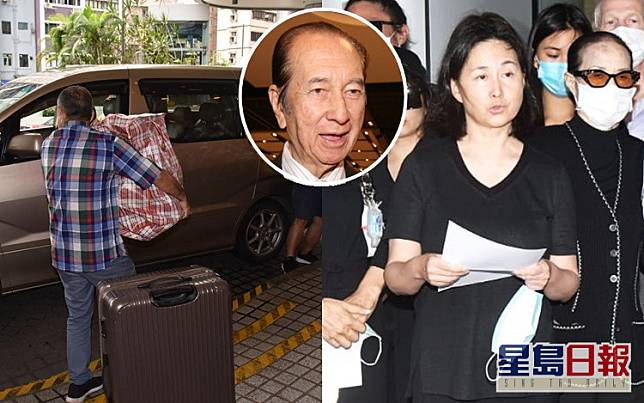 一代賭王何鴻燊今午1點離世,其家人剛才已陸續離開醫院。