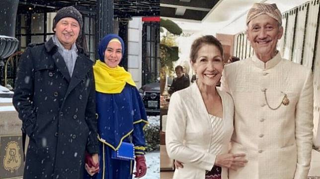 Kartika Putri dan suami (kiri) - Mieke Amalia dan Tora Sudiro (kanan). (Instagram)
