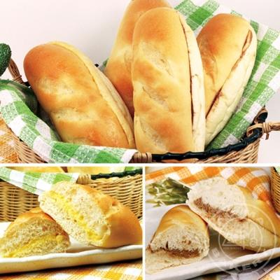 奧瑪烘焙 維也納麵包(原味x6入+巧克力x6入)