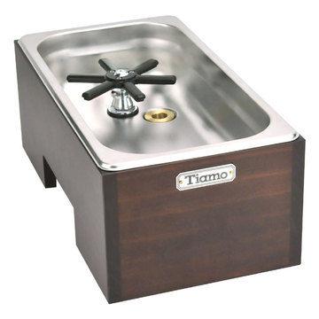 金時代書香咖啡 TIAMO 洗杯器渣桶附木盒(大) BC2409