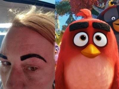 Keluar dari Salon, Alis Wanita Ini Malah Berubah Jadi Mirip Angry Bird