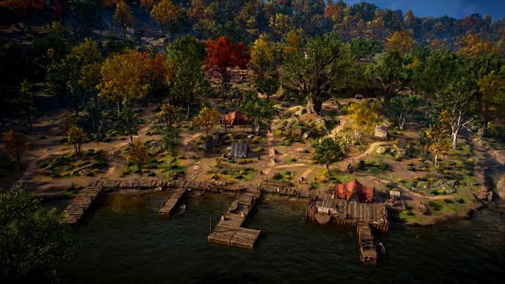 早期的部落據點是一片荒地,等待玩家來建設。