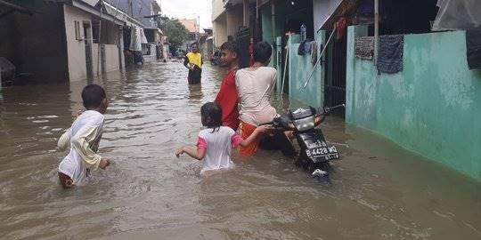 Empat Kecamatan di Kota Bekasi Terendam Banjir