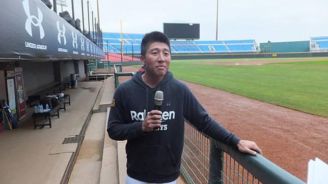 猿隊21歲外野手成晉,生涯三年首次開季從一軍出發。記者藍宗標/攝影
