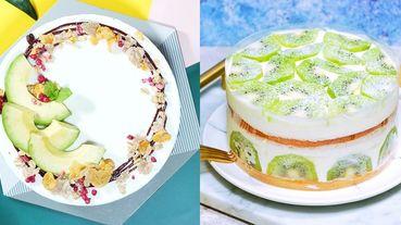 酪梨控必吃!每一口都是滿滿的酪梨~網購甜點店《微甜室》推出綠色系蛋糕~酪梨、奇異果、抹茶打造最療癒綠洲蛋糕!