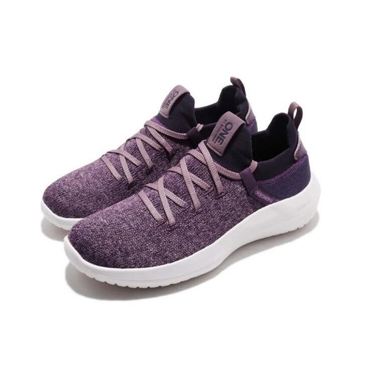 Skechers ONE 女款 編織面料 休閒運動鞋 18040/Pur