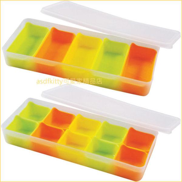 asdfkitty可愛家☆日本ARNEST 分小格保鮮盒-2入-可單獨微波.離乳食品/便當菜隔盒-日本正版商品