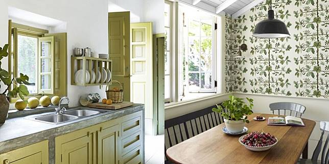 Desain Dapur Modern Dengan Nuansa Hijau Yang Indah Dan Menawan