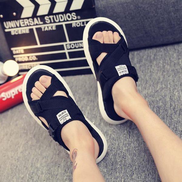 涼鞋 夏季拖鞋男士涼鞋時尚外穿網紅潮流個性韓版運動涼拖室外2019新款