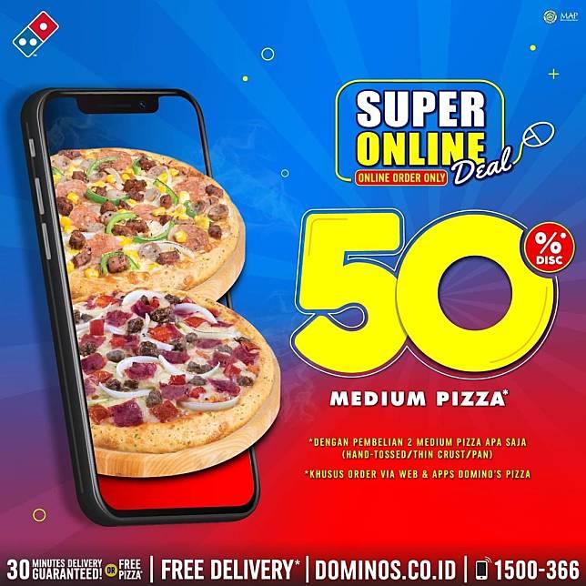 Domino S Pizza Promo Super Online Deal 50 Diskon Domino S Pizza Line Today