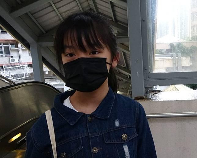 讀中一的女街坊黎同學表示對事件感到擔心。