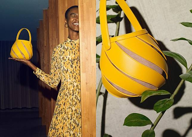 Yellow Leather Helix Bag(互聯網)