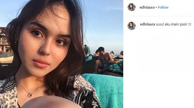 Selebgram Laura Anna. (Instagram/@edlnlaura)