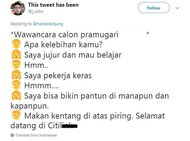 10 Cuitan Interview Karyawan Ala Netizen Ini Bikin Ngakak Setuju