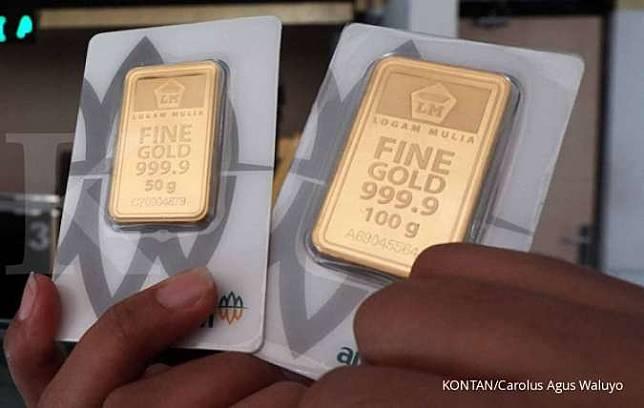 Harga emas 24 karat Antam hari ini tetap Rp 938.000 per ...