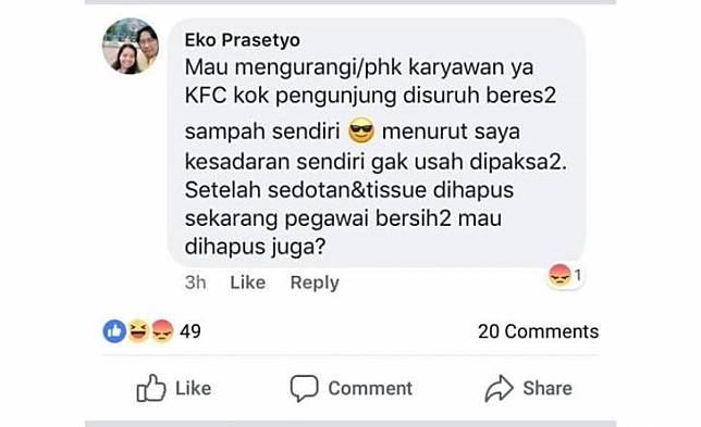 Mungkin KFC mau mengurangi karyawannya