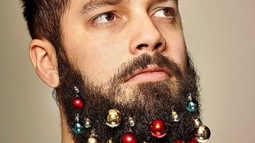 聖誕樹搬上「臉」?英倫最新時尚-裝飾大鬍子