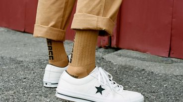 不斷演進的經典設計 CONVERSE ONE STAR PERFORATED LEATHER