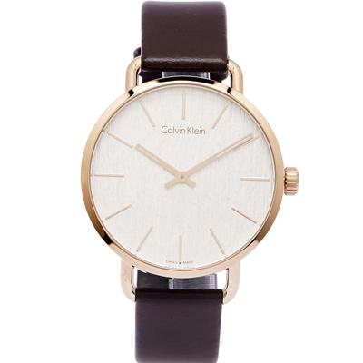 原廠平行輸入銀白色木質感錶盤夜光指針玫瑰金色錶殼咖啡色皮革錶帶型號:K7B216G6
