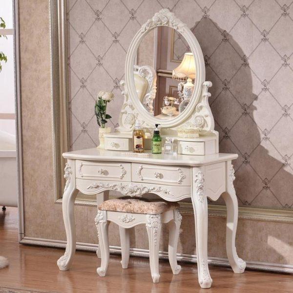 梳妝台 歐式梳妝台臥室現代簡約小ins多功能飄窗網紅化妝台化妝桌化妝櫃T