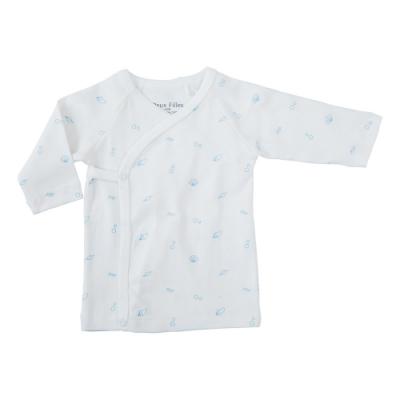 採用國際GOTS認證有機棉 材質柔軟透氣呵護寶貝細緻的肌膚 可攤平給寶寶穿,不傷寶寶脖子 台灣設計製造