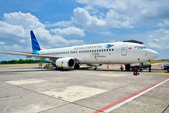 A Garuda Indonesia aircraft