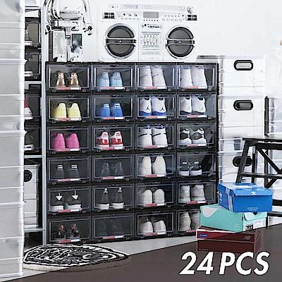 6片式簡易組裝透明門板找鞋超快速內附防霉片 為鞋子製造優質存放空間耐重可堆疊 上下凹槽連接 傾斜也不倒可存放男鞋US13以下尺寸
