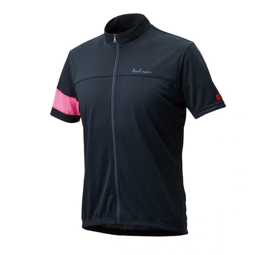 【7號公園自行車】PEARL IZUMI 337-B-1 FREEASY 男性都會休閒款短袖車衣(黑/粉)
