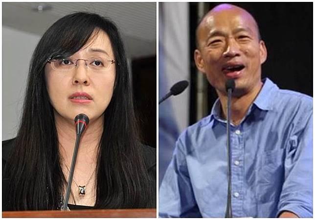 民進黨籍立委陳瑩(左圖)自爆夢到韓國瑜(右圖)。(本報資料照片)