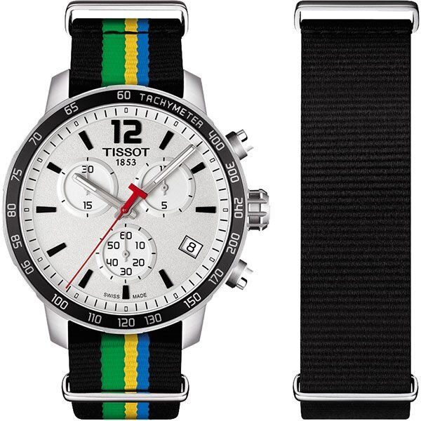 TISSOT 天梭 QUICKSTER BAKU 2015 特別版運動手錶-銀/42mm T0954171703702。人氣店家比漾廣場 BEYONDPLAZA的瑞士/專櫃手錶、TISSOT天梭有最棒