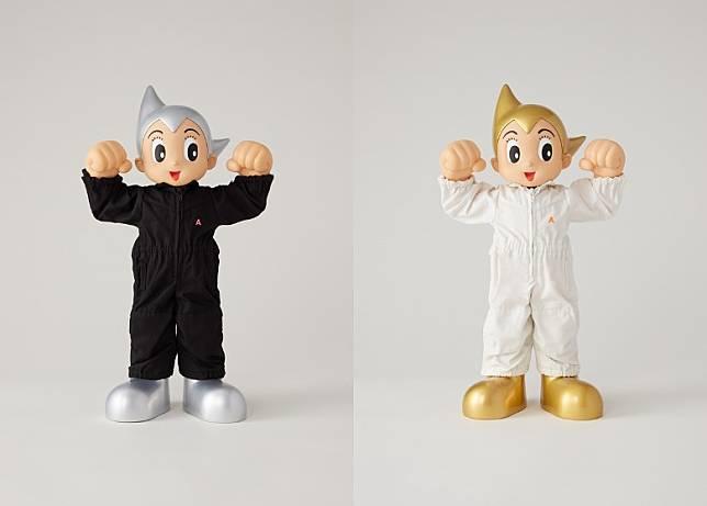 ASTRO BOY AMBUSH分別穿上Yoon所設計的黑白色連身服,頭髮及長靴顏色亦改為銀色及金色。(互聯網)